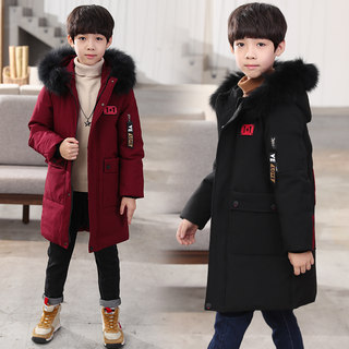 Boys padded jacket children 2020 new mid-length western style boys thick down down padded jacket winter padded jacket boys big boys
