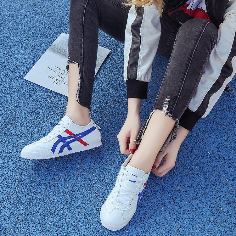 夏季新款低帮鞋女鞋圆头板鞋PU皮