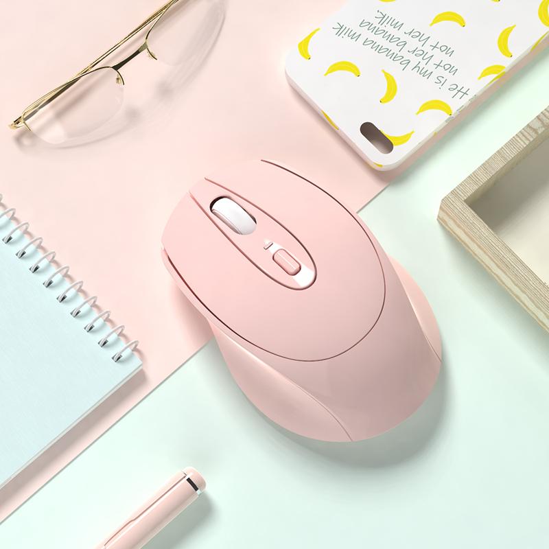 【送贴纸 鼠标垫】无线可充电静音蓝牙鼠标