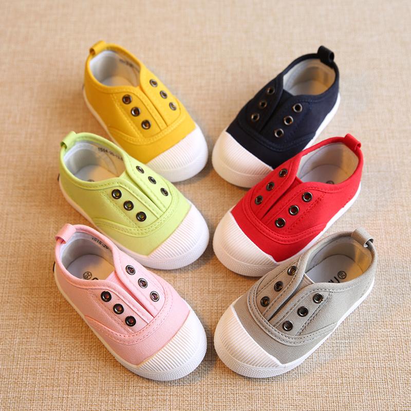 春秋季儿童帆布鞋男童女童宝宝单鞋小童鞋子1-3岁2一脚蹬球鞋板鞋-给呗网
