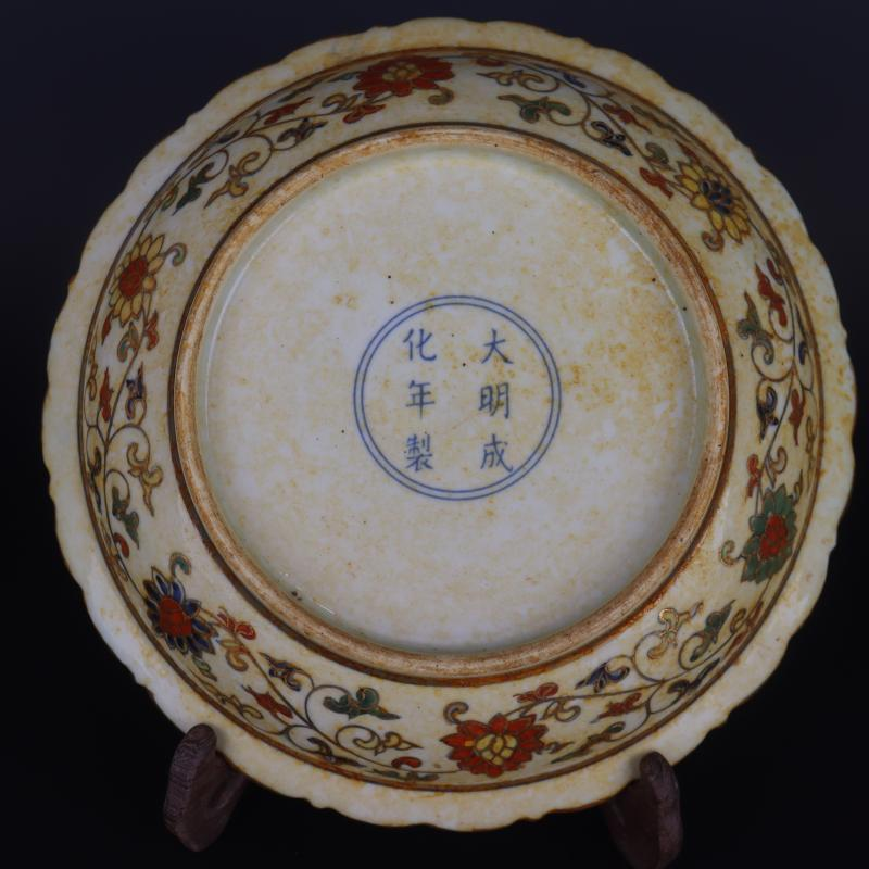 Pure manual hand made in blue bucket color paint decorative pattern plate of household of Chinese style furnishing articles to collect antique craft porcelain