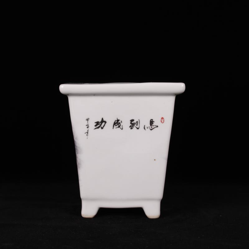 Jingdezhen pastel fleshy celestial being ceramic flower pot in the sitting room balcony desk cabinet flowerpot decorative furnishing articles