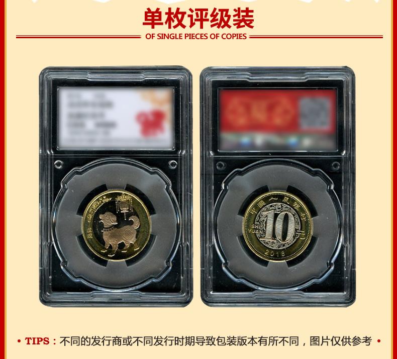 九藏天下年狗年纪念币二轮生肖狗贺岁双色铜合金流通币元详细照片