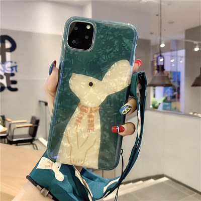 Jiang Shu Yingxian Rabbit iPhone 11Pro Max Mobile Shell XS Max All-Ben Soft 12Pro Applicable MINI Apple 7PLUS Cartoon 6S Female XR Lags Silicone 8P Case SE2