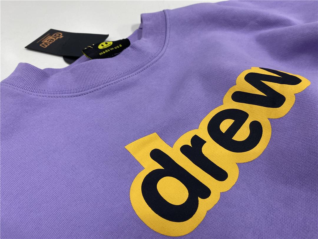紫色字母套头休閒上衣贾斯汀比伯同款高街风休閒宽鬆男女外套详细照片
