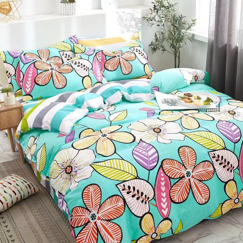 【100%纯棉】多品全棉四被套全棉床上用品件套床单3件套