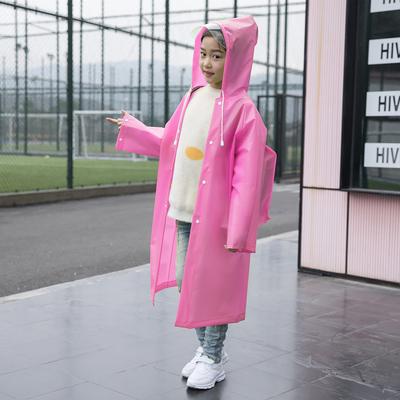 儿童雨衣男童女童长款全身雨披带书包位