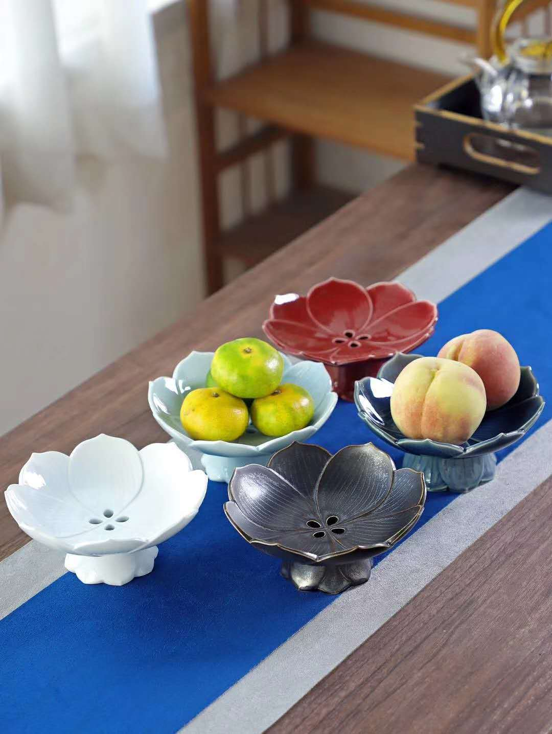 Jingdezhen Chinese pastry disc manually best dish fruit dried fruit tray plates home sitting room tea table, tea table of pottery and porcelain