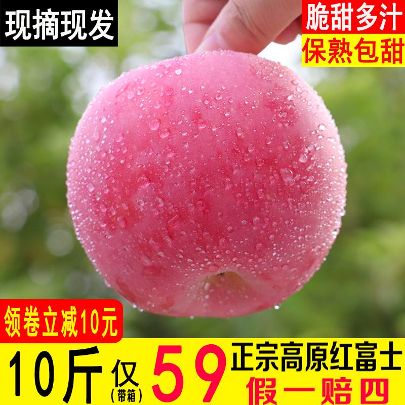 现摘2019年陕西洛川红富士苹果水果新鲜包邮农家脆甜苹果带箱10斤