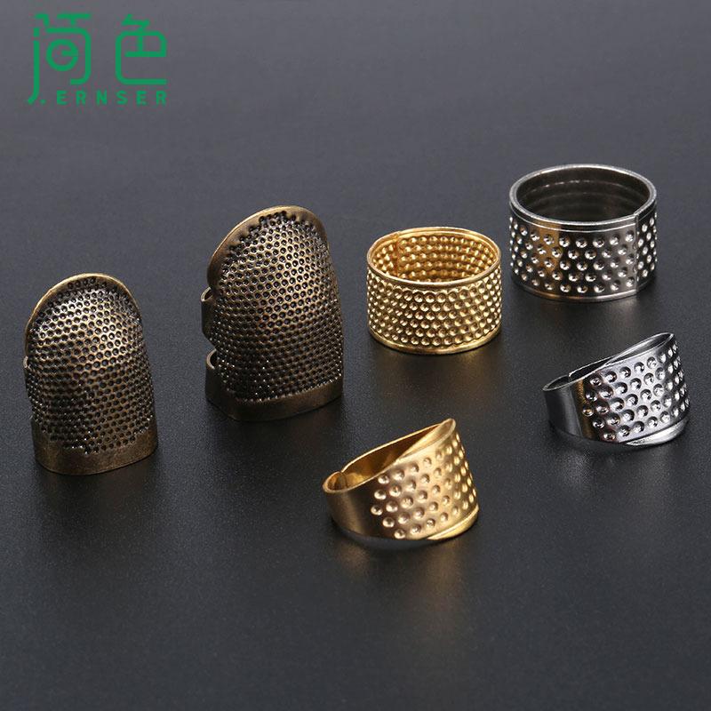 Điều chỉnh thimble hộ gia đình chống dính ngón tay đặt vòng thimble hoop công cụ may thêu vàng bạc thimble thiết bị - Công cụ & vật liệu may DIY