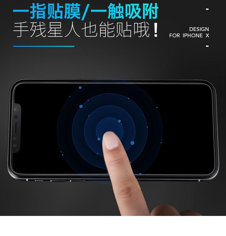 钢化膜苹果手机全屏覆盖全包边全包防窥玻璃屏保保护隐私防偷窥贴膜详细照片