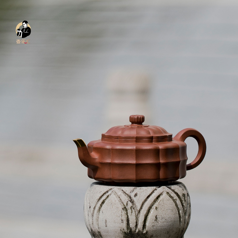 (Sold for appreciation) Yixing purple sand pot bager everyone Shen Jianqiang teacher works Heling pot rib bag