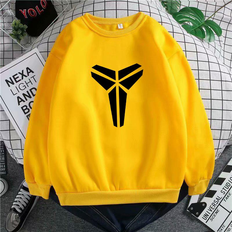 Kobe Black Manba autumn winter sweater men's plush clothes loose-fitting bottom t-shirt Korean version trend long-sleeved T-shirt 44 Online shopping Bangladesh