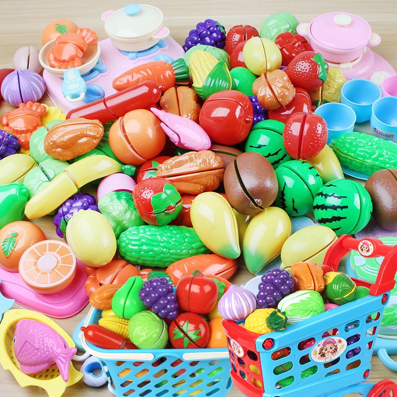 蔬菜切宝宝女孩套装水果玩具益智婴幼儿儿童切切乐磁性过家家v蔬菜