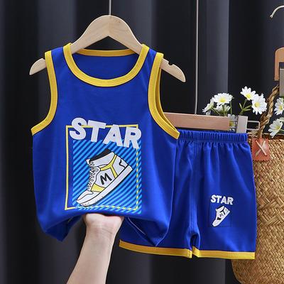 儿童篮球服短袖套装男童夏装女童夏季薄款网眼宝宝背心速干两件套