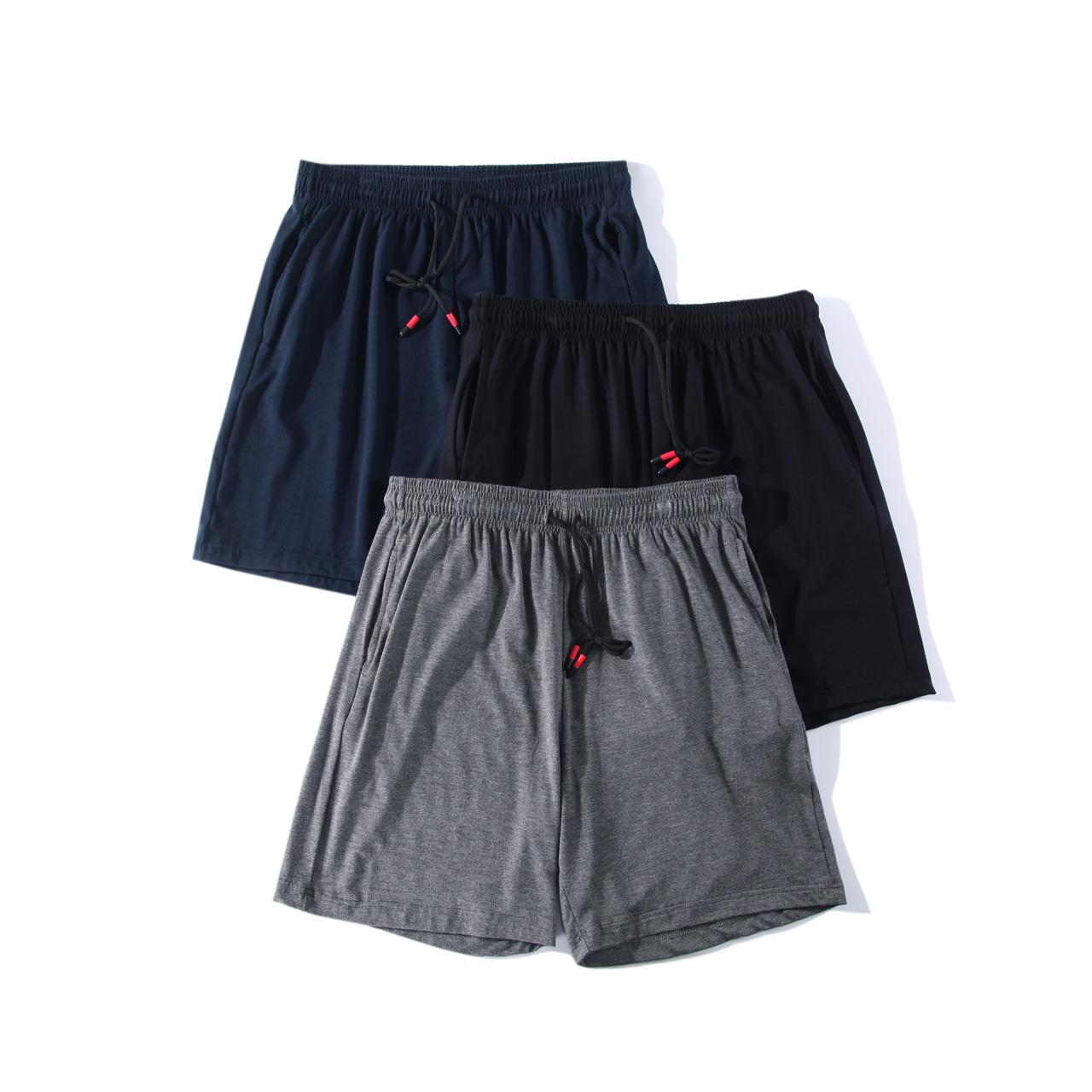 舒适不紧绷。上等面料宽松莫代尔棉夏季男士家居短裤简直就是男神必备~小鲜肉们快抢~