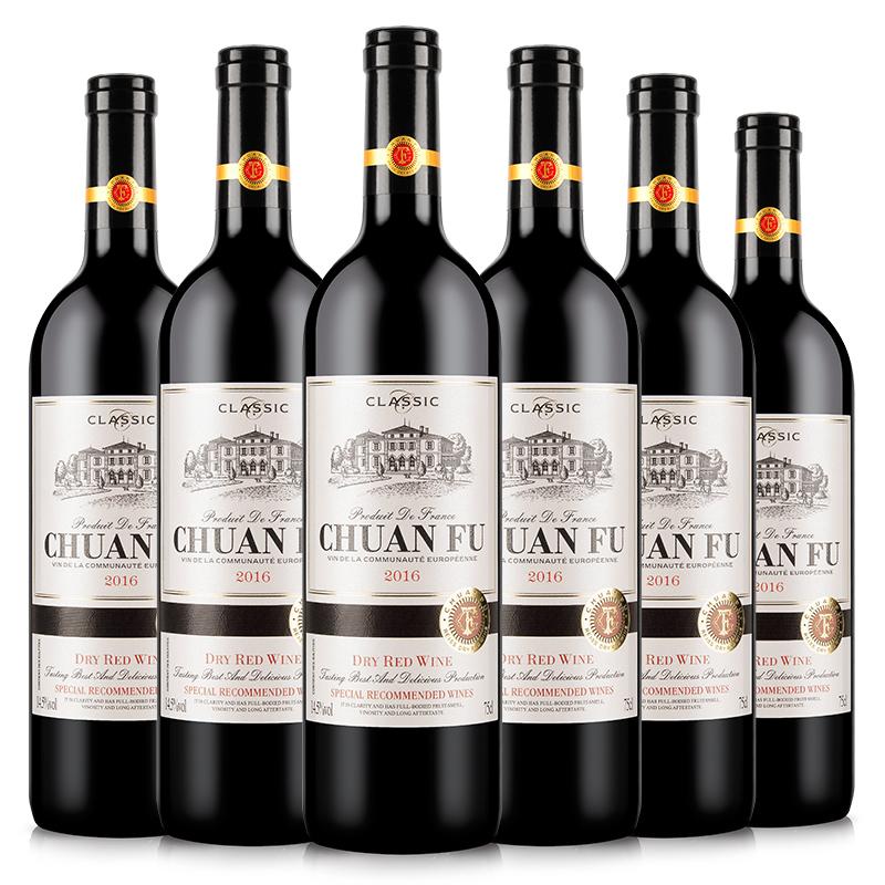 川富 法国进口赤霞珠干红葡萄酒