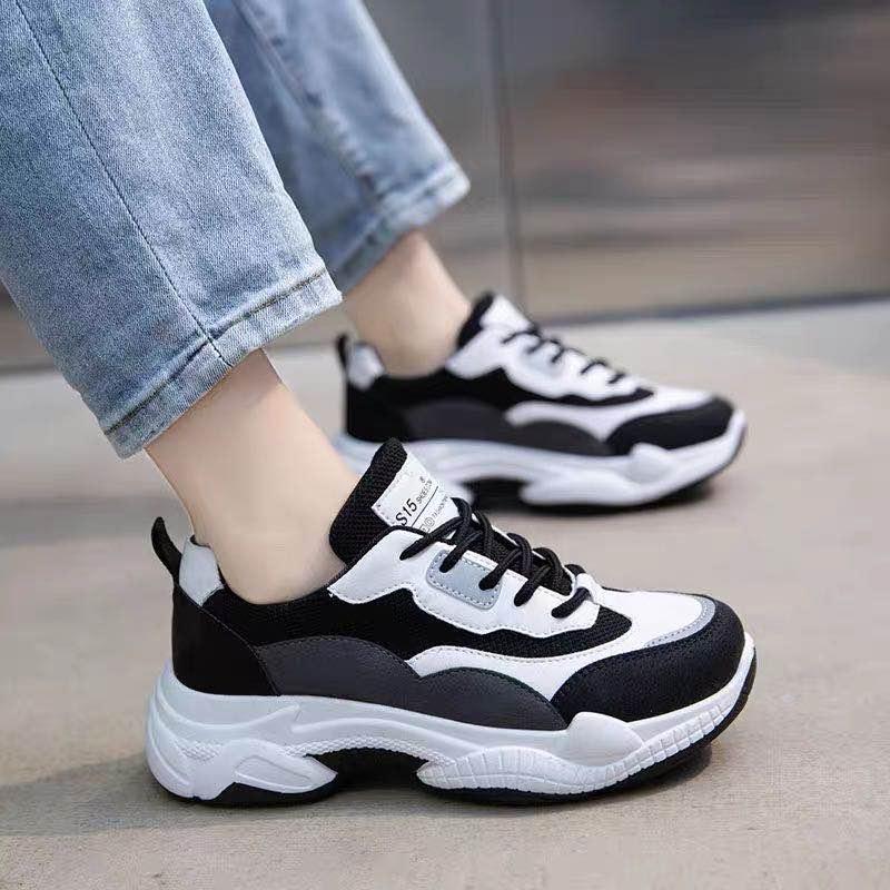老爹鞋2020秋季新款鞋子女学生韩版百�u搭厚底休闲旅游跑步潮运动鞋
