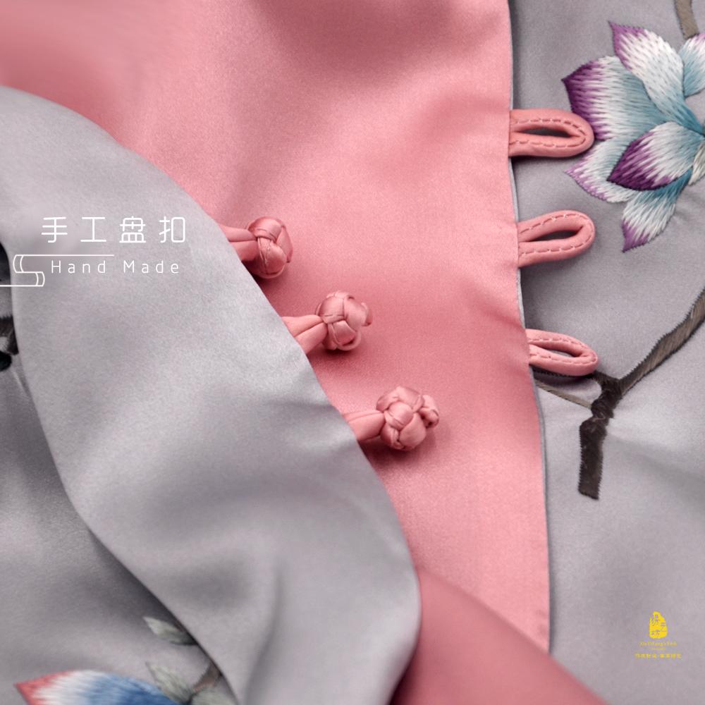 日本披肩送特色母亲节手工花礼品四川蜀绣礼物送成都妈妈刺绣老外