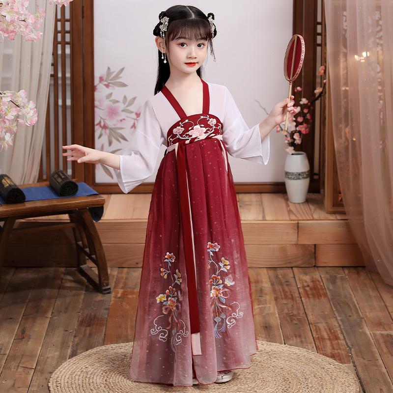 2020新款高端儿童汉服女童古装超仙夏装女中国风裙子夏天女孩12岁