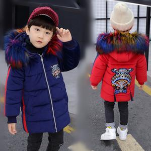 男童創意中國風棉服2019冬新款加絨中長款棉服中大童加厚保暖棉衣