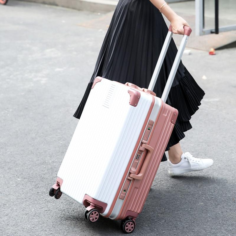 五折促销行李箱ins网红女拉杆箱万向轮20寸24皮箱子韩版铝框密码旅行箱男