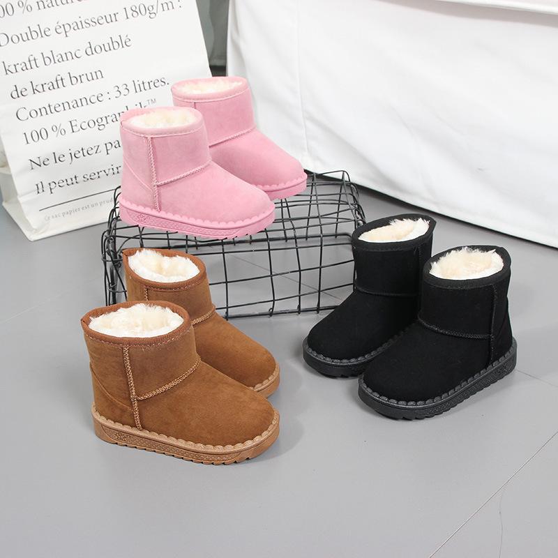 儿童加绒加厚雪地靴25-36码