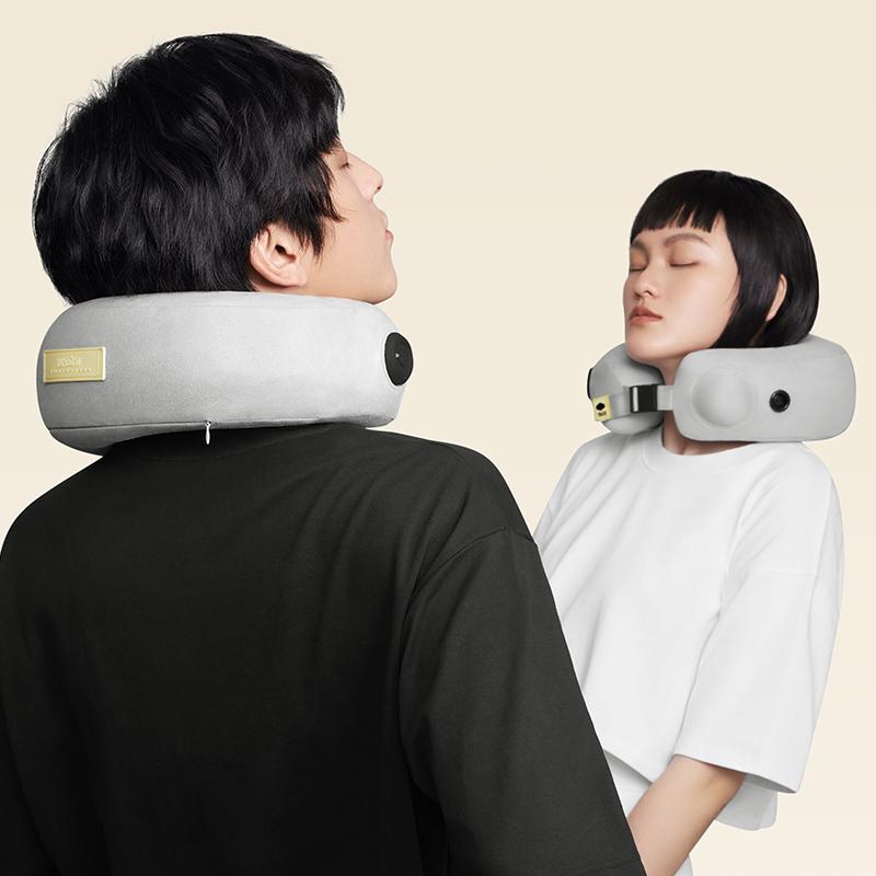 允宝颈椎按摩器电动颈部按摩仪脖子肩颈腰部气囊颈枕护颈椎枕头