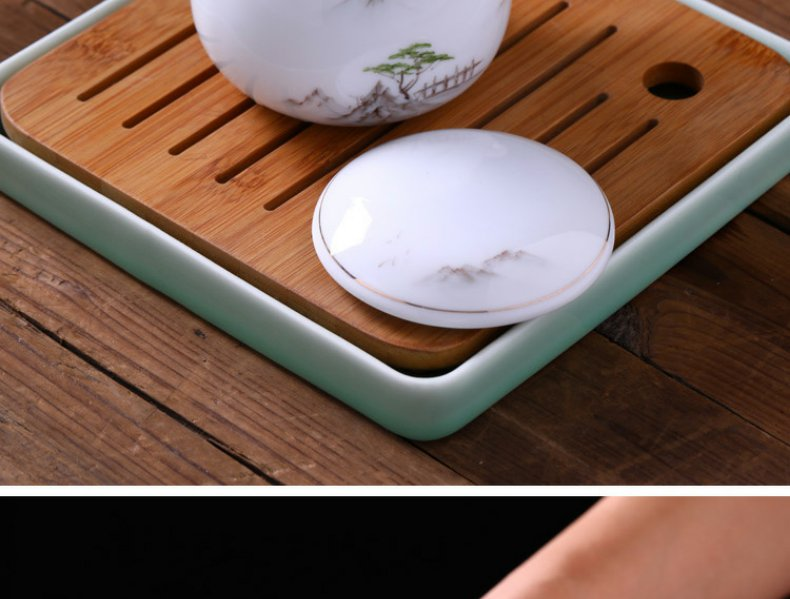 Continuous grain of hand - made new see colour of jingdezhen ceramic cups with cover office cup what cup at ease with the filter cups of Chinese style