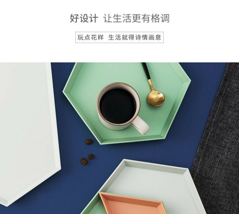 Continuous web celebrity fruit grain of plate to ins wind son sweet dish sitting room home Nordic creative plastic receive dish of tea