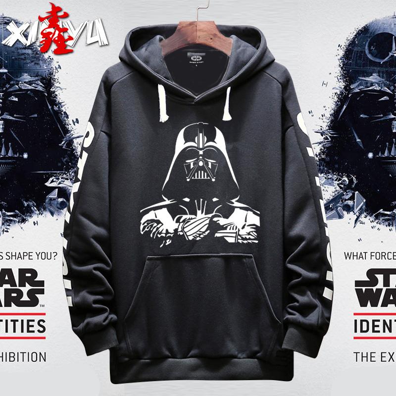 鑫遇Star Wars 星球大战 黑武士 I AM YOUR FATHER套头卫衣薄款男