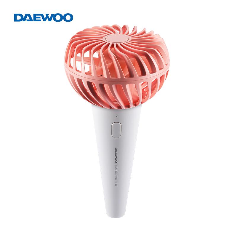 韩国大宇电风扇小风扇usb风扇可充电手持风扇静音迷你便携式风扇