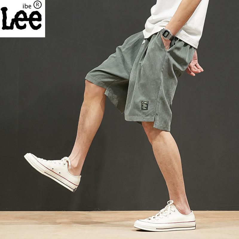 短褲男夏季運動五分褲七分休閑褲子男士寬松沙灘褲大碼工裝褲潮牌