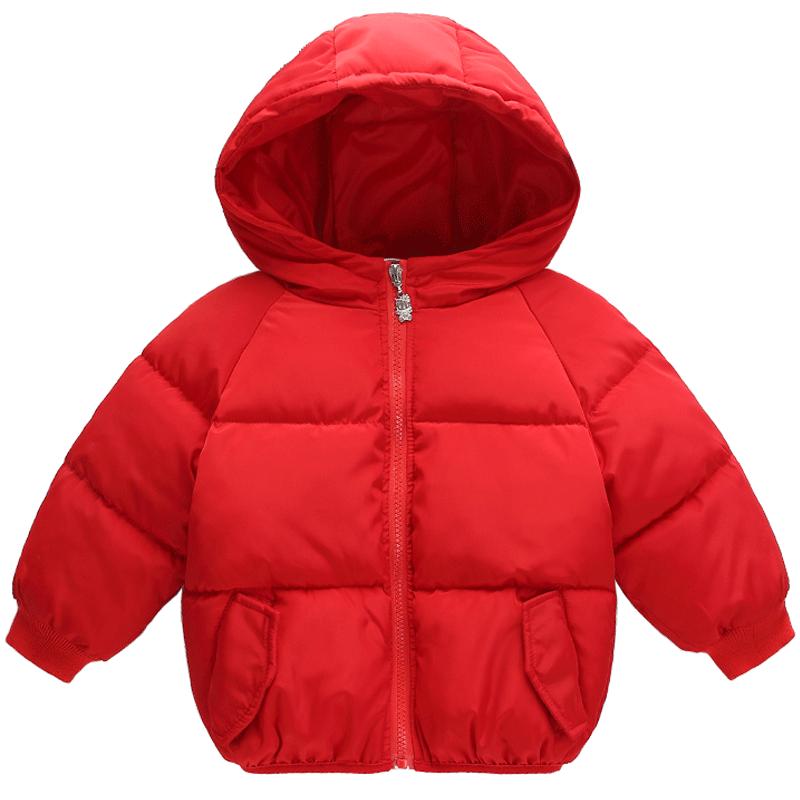 婴幼儿宝宝冬装儿童棉服加厚女童棉袄短款反季连帽男童棉衣外套冬