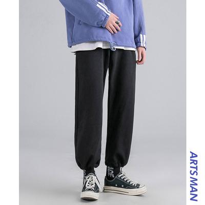 Aberdeen văn học quần nam nam màu xám thẳng thể thao bình thường thương hiệu bảo vệ quần mùa xuân lỏng rộng chân quần chùm - Quần mỏng