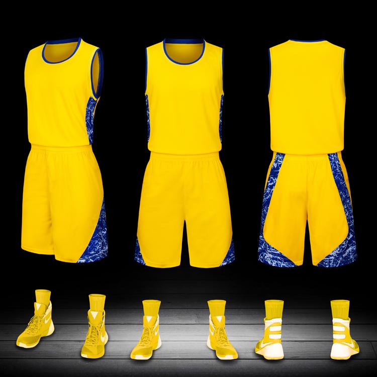 籃球服套裝男四件套訂製球衣長袖緊身衣大學生訓練隊服印字籃球服 【安可居】