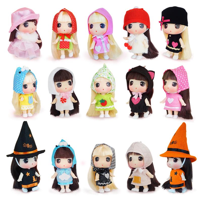 冬己v娃娃娃娃换装包包玩偶迷你可爱萌人偶玩具女孩娃娃挂件公主