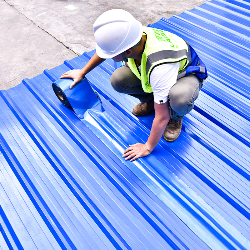 Lai Shi De roof trapping material Sun-resistant self-adhesive waterproof tape Color steel tile insulation linoleum plugging asphalt coil