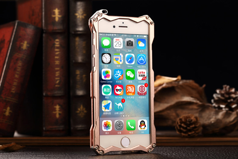 R-Just Gundam Matte Aerospace Aluminum Shockproof Metal Shell Protection Case for Apple iPhone 6S/6 & iPhone 6S Plus/6 Plus