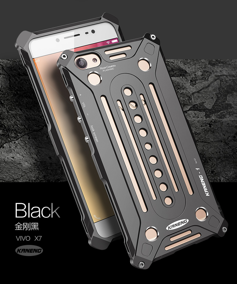 KANENG Powerful Aluminum Shell Shockproof Aerospace Metal Case Cover for vivo X7 & vivo X7 Plus