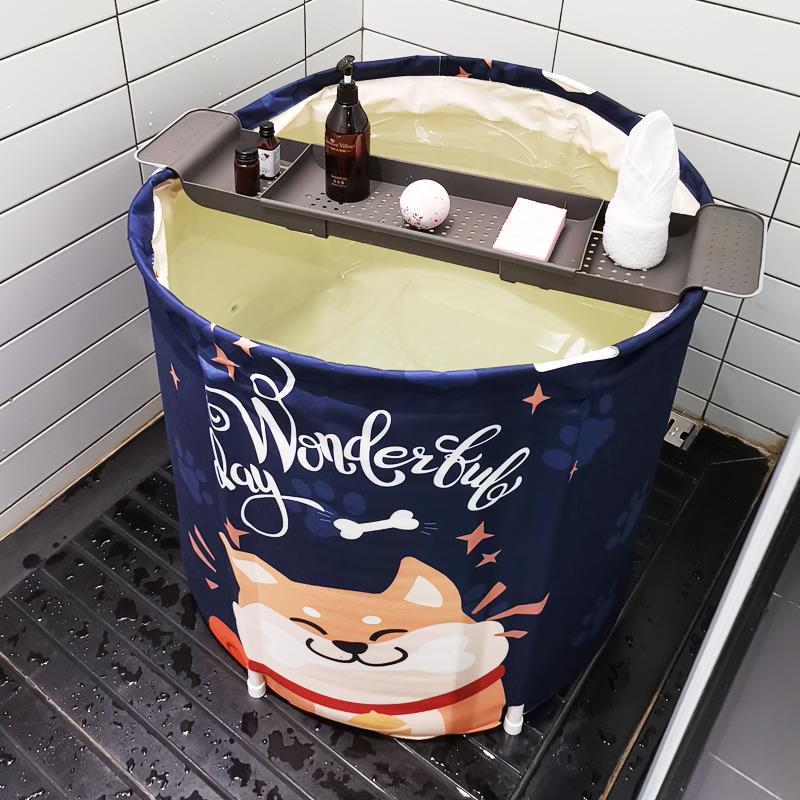 大人折叠泡澡浴桶加厚洗澡泡澡神器