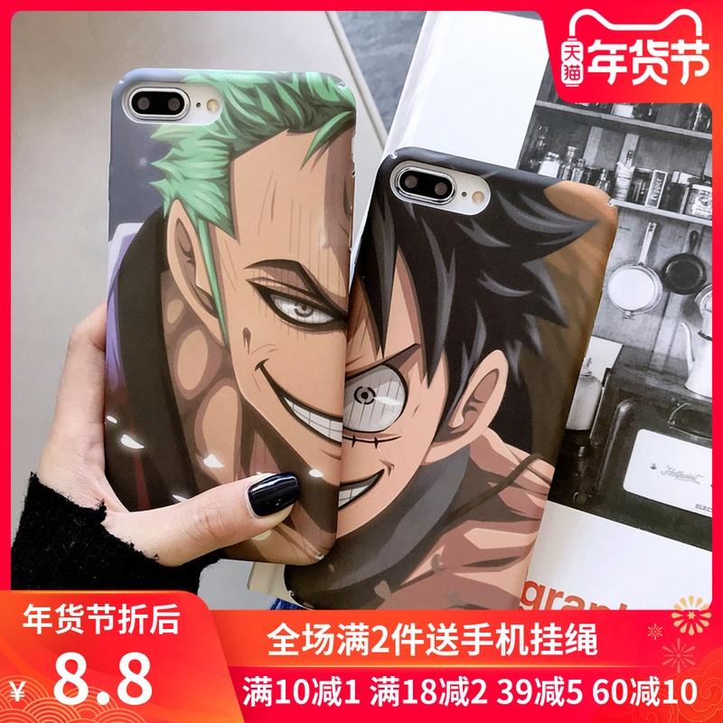 日本动漫海贼王路飞华为mate20pro手机壳新款vivox9小米9 pro男女款note3苹果6硬壳iphone11p