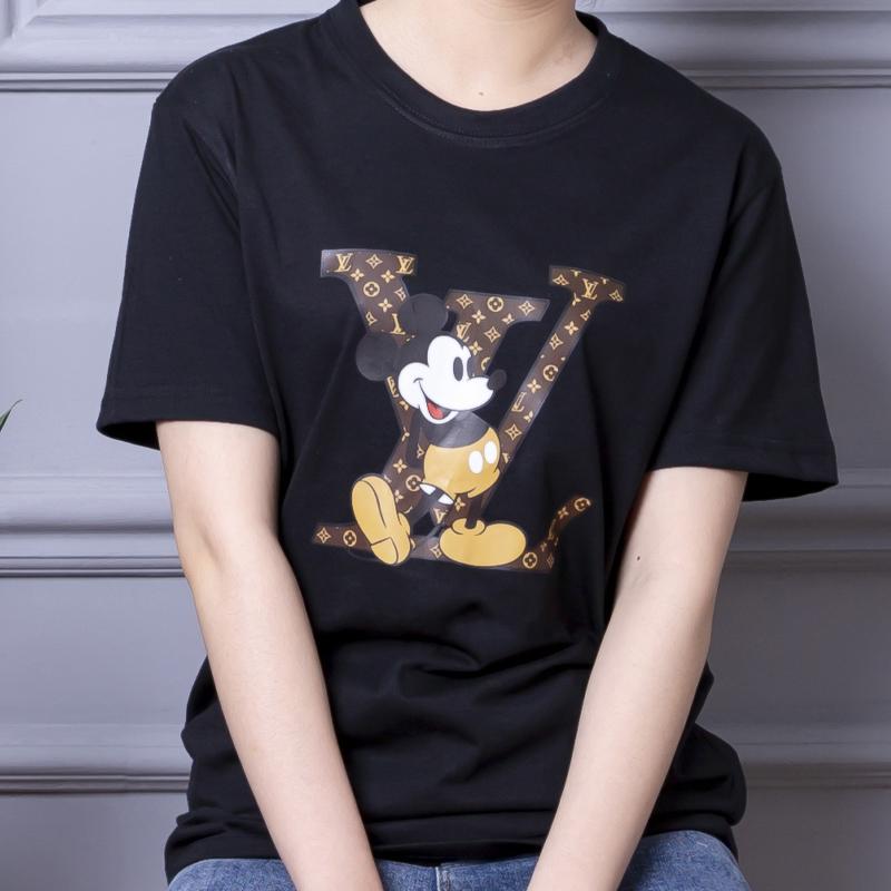 2021夏季新款短袖t恤女男圆领宽松纯棉打底衫半袖大码T恤情侣装