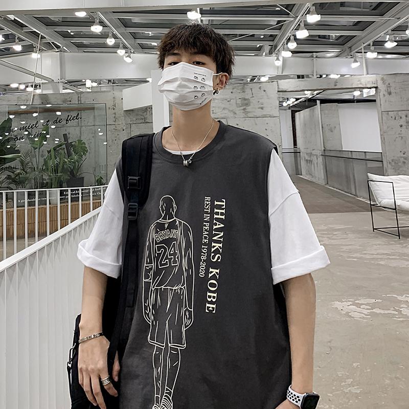 Xu hướng béo nam vest nam mùa hè phong cách Hồng Kông không tay áo thun nam áo rộng kích cỡ lớn vest giản dị quần áo nam - Lót
