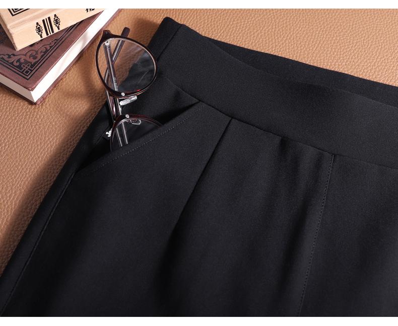 紧身黑色内搭裤女外穿薄款春秋百搭中老年妈妈七九分小脚长裤详细照片