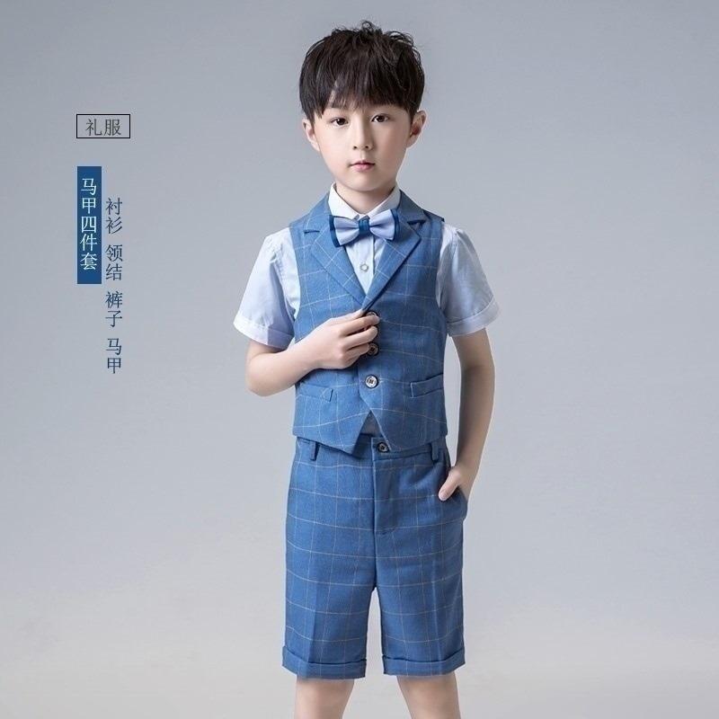 礼服v礼服花童礼服十岁男童幼儿园小主持人礼服小伴郎王子礼服礼服