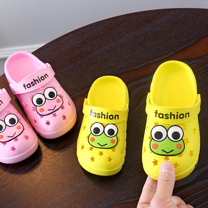 沙滩小孩拖鞋夏1-3岁2防滑儿童包头鞋婴幼儿洞洞女童男童宝宝凉拖
