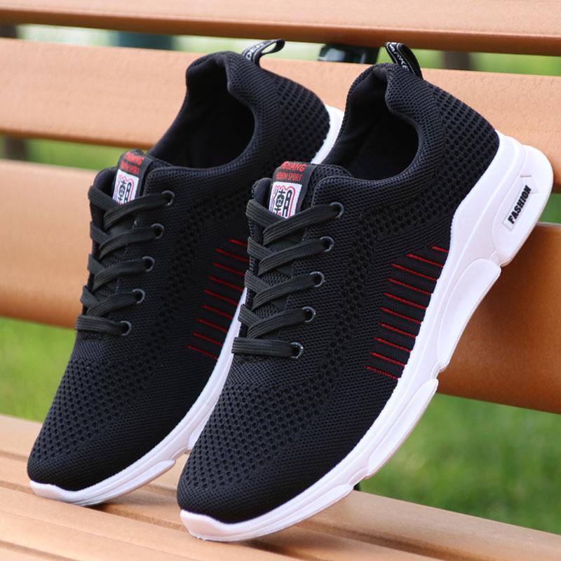 网红飞织网布运动鞋透气男鞋2020新款青年休闲板鞋旅游男士跑步鞋