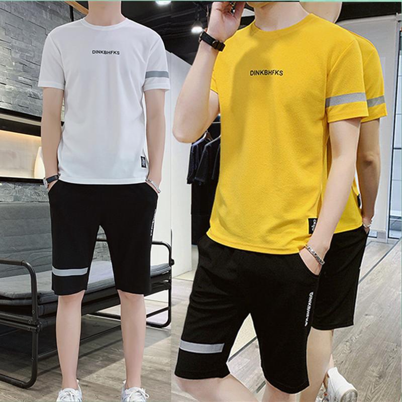 夏季新款短袖运动T恤短裤两件套
