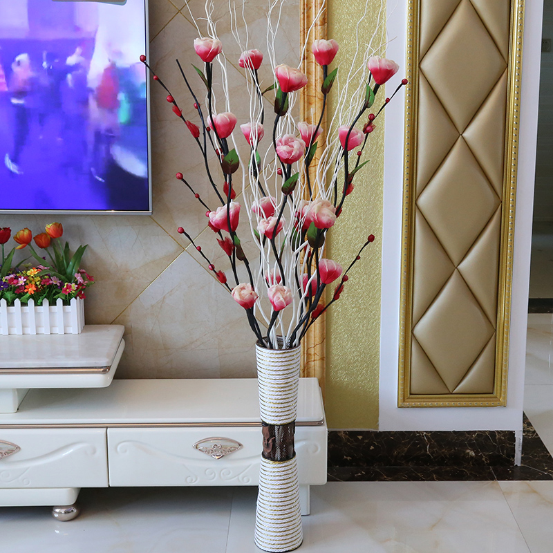 Artificial Flowers Living Room Decorative Flooring Fl Veins Dried Bouquets Indoor Decorations Home